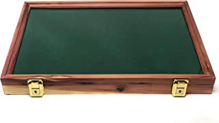 Cedar Wood Display Case 12 x 18 x 2 for Arrowheads Knives Collectibles Coins