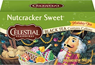 Celestial Seasonings Black Tea, Nutcracker Sweet, 20 Count (Pack of 6)