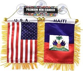 Haiti Flag American Flag 2pc Haitian American Mini Flags auto Home Haiti American Flags