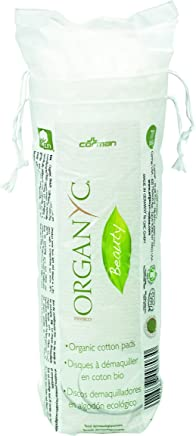 Organyc 100% Organic Cotton Rounds - Biodegradable Cotton, Chemical Free, For Sensitive Skin (70 count) - Daily Cosmetics. Beauty and Personal Care