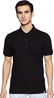 Amazon Brand - Symbol Men's Solid Regular Fit Polo T-shirt