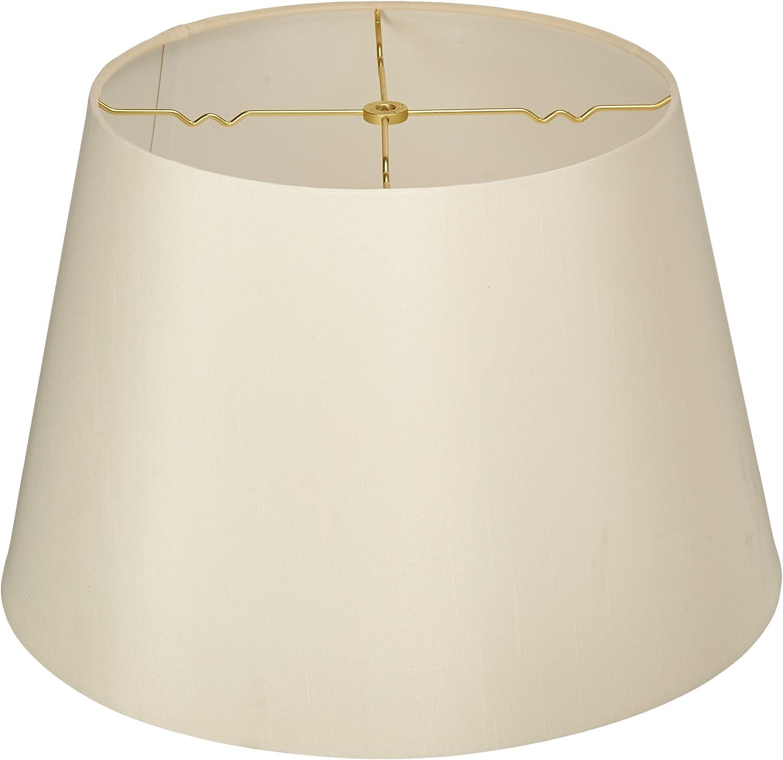 Royal Designs HB-606-18EG Tapered Shallow Drum Hardback Lamp Shade, Eggshell, 13 x 18 x 12