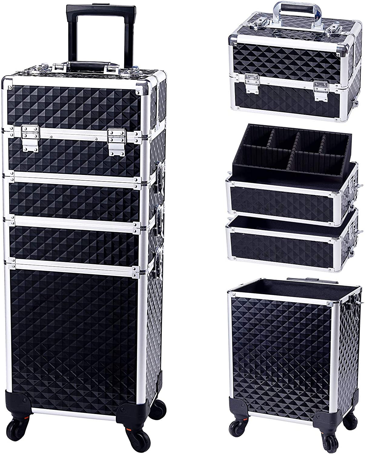 Stagiant Rolling Makeup Train Case online shopping Cosmetic Storage Free shipping anywhere in the nation Large Trolle
