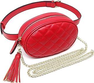 GEEAD Fanny Packs for Women Fashion Waist Bag Leather Belt Bum Bag Waterproof