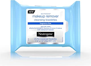 Neutrogena Makeup Remover Cleansing Towelettes, Fragrance Free, 25 ct (Pack of 4)