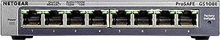 Netgear GS108E-100PES Prosafe Plus 8-Poorts Gigabit-Switch, Grijs