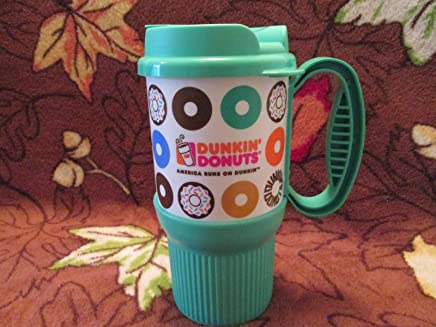 03bcd7e0727 Dunkin Donuts New Green 2014- 16oz Hot/ Cold Travel Mug/ Cup (Made