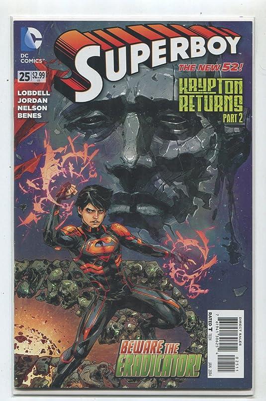 Superboy #25 NM The New 52 Kaypton Returns Part 2 Beware The Eradicatior DC 9 ww773832207