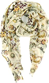 Scarves for Women: Lightweight Cute Bird Floral Fashion shawl by MIMOSITO