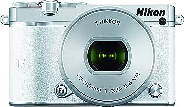 Nikon 1 J5 Mirrorless Digital Camera w/10-30mm PD-ZOOM Lens (White) (Renewed)