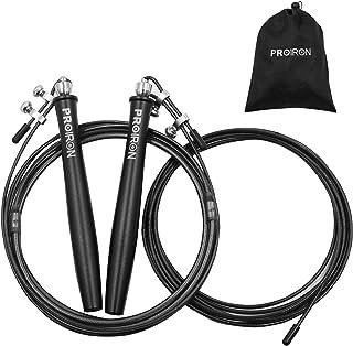 PROIRON なわとび 大人 トレーニング用 縄跳び スピードロープ 高速回転 もつれ防止 特別なダブルボールベアリング 競技用 練習用 収納袋付 長さ調整可能
