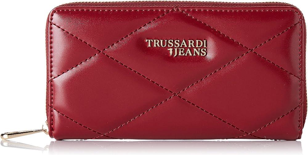 Trussardi jeans t-easy portafoglio porta carte di credito per donna in pelle sintetica 75W00152-9Y099994