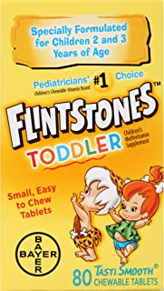 Flintstones Toddler Chewable Multivitamins, 80 Count