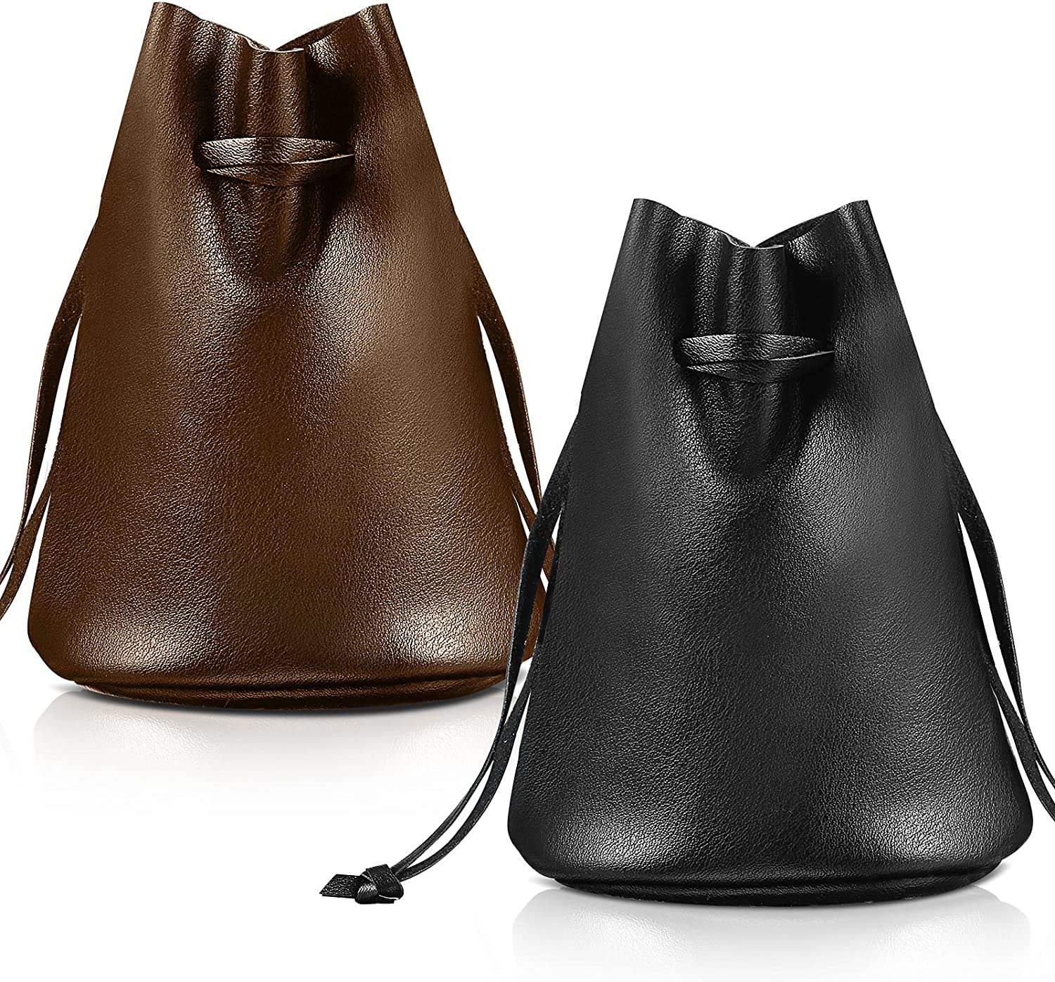 Artificial Leather Drawstring Pouch, Coin Bag, Medicine Pouch, Cellphone Case Cover Pouch, Wallet Hand Purse, Carry Gadget Bag, Christmas Present Bag, Halloween Costume Bag