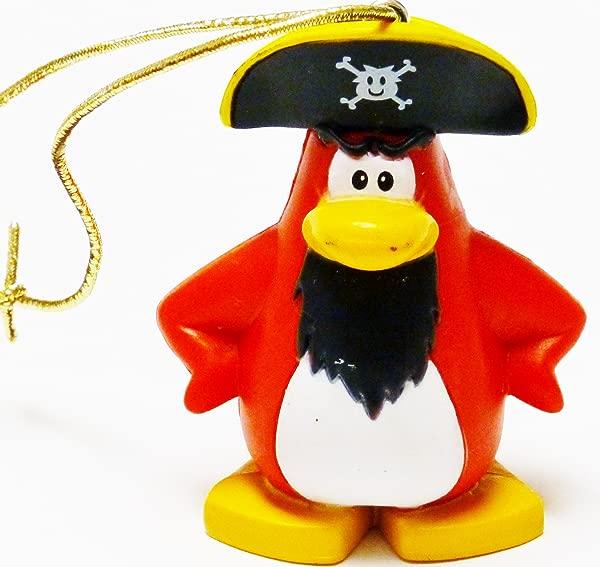 Disney Club Penguin Christmas Ornament 2 Captain Rockhopper Figurine Ready To Hang