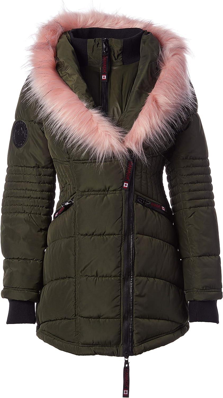 Heavyweight Parka Jacket with Faux-Fur Trim Hood CANADA WEATHER GEAR Girls Winter Coat