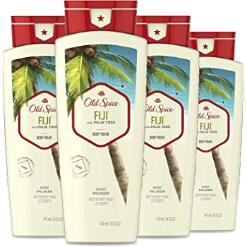 Old Spice Body Wash for Men, Fresher Fiji Scent, Fresher Collection, 16 Fluid Ounce (Pack of 4)