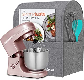 Simboom Stand Mixer Cover for 6-8 Quart KitchenAid Mixers, Dust Cover with Pockets for KitchenAid Mixers and Extra Accessories (Grey)