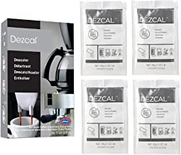 Urnex Dezcal Coffee and Espresso Descaler and Cleaner - 4 Uses - Activated Scale Remover Use with Home Coffee Brewers Espr...