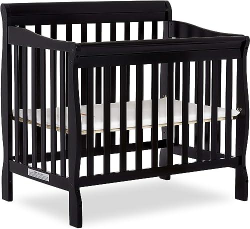 Dream On Me, Aden 4-in-1 Convertible Mini Crib, Black