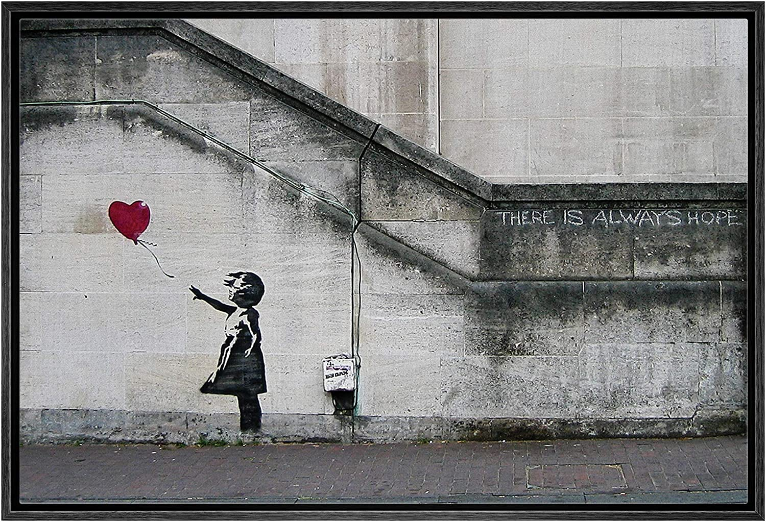 NWT Framed Canvas Wall Art ! Super beauty product restock quality top! for Living Theme Room Banksy Bedroom High quality