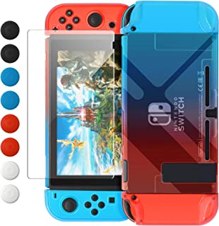 Dockable Cover Case Compatible with Nintendo Switch,Protective Case Compatible Nintendo Switch with Screen Protector