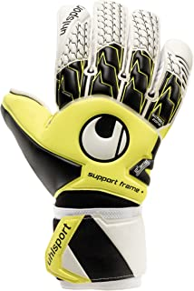 uhlsport HN Soft Support Frame Finger & Thumb Protection + Goalkeeper Gloves for Soccer