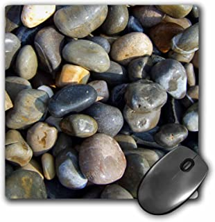 3dRose 8 x 8 x 0 25 Inches Shiny Wet Beach Pebbles Texture Photo Little Stones Natural Rocks Nautical Grey Brown Nature Mouse Pad (mp_157798_1)