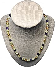 Postpartum Necklace - Amethyst and Baltic Amber Necklace - Balance Hormones and Reduce Anxiety Naturally