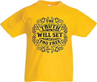 lepni.me Kids T-Shirt The Truth Will Set You Free - The Proof of Faith - Christian - Resurrection - Nativity, Religious