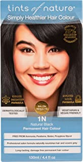 TINTS OF NATURE 1N Natural Black Hair Color, 4.4 FZ