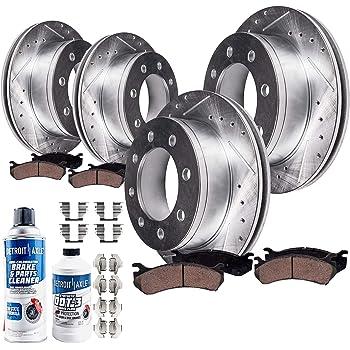 For Express Van 3500 4500 Front And Rear Premium Brake Rotors /& Metallic Pads