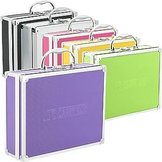 Aluminium koffer box in verschillende kleuren met schuimvulling lila