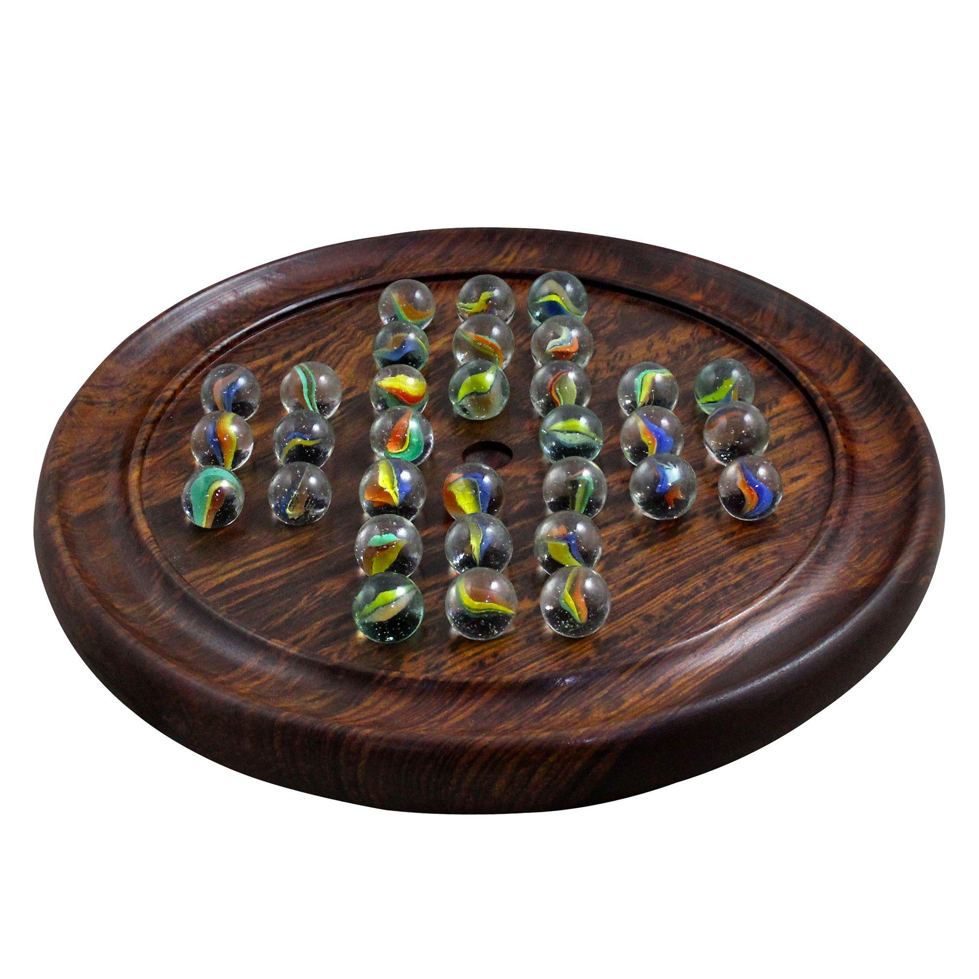 RoyaltyRoute Juego de Mesa de Madera Solitario mármoles Clavijas-única Idea de Regalo de cumpleaños para niños y Adultos: Amazon.es: Juguetes y juegos