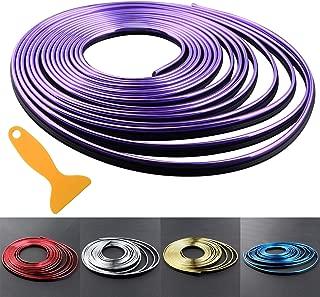 Car Interior Trim Strips - 16.4ft Universal Car Gap Fillers Automobile Moulding Line Decorative Accessories DIY Flexible Strip Garnish Accessory with Installing Tool (5M - Purple)