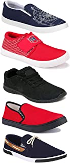 WORLD WEAR FOOTWEAR Sports Running Shoes/Casual/Sneakers/Loafers Shoes for Men Multicolor (Combo-(5)-1219-1221-1140-417-461)