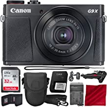 Canon PowerShot G9 X Mark II Wi-Fi Enabled Digital Camera with Xpix Tripod and 32GB Bundle