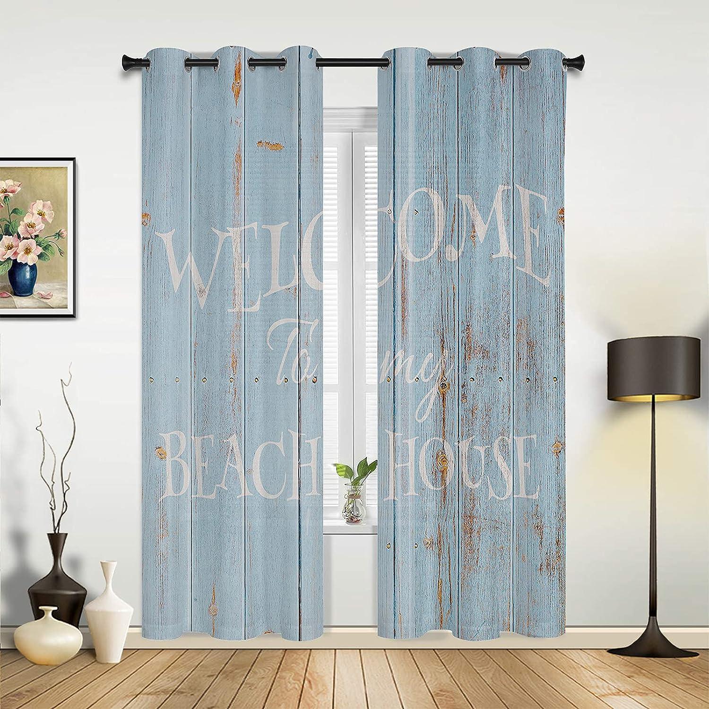 Window Sheer Curtains for Bedroom Ocean Finally popular brand Living Beach Summer Room Purchase