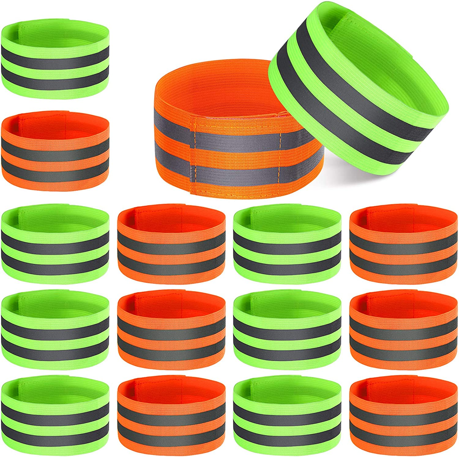 16 Pieces Reflective Bands Regular discount Reflector Ankle Arm Max 72% OFF for Wrist