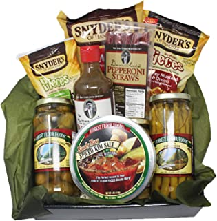 Bloody Mary Mix Gift Set. Extra Horseradish Seasoning Concentrate, Pepperoni, Olives, and Salty Snacks. Great for the Hard to Buy For.