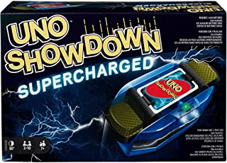 UNO Showdown Supercharged Family Card Game with 112 Cards & Showdown Supercharged Unit for Ages 7 Years Old & Up, Gift for...