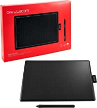 WACOM One by CTL-672/K0-CX Medium 8.5-inch x 5.3-inch Graphic Tablet (Red and Black)