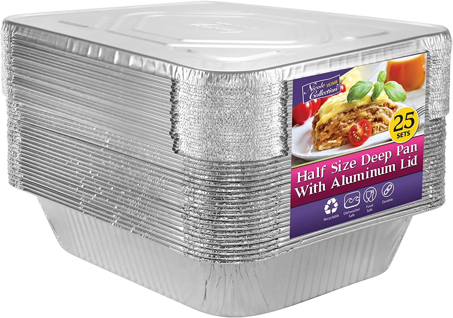 Aluminum Pans Half Size with Max 87% Sale item OFF Disposable For Lids