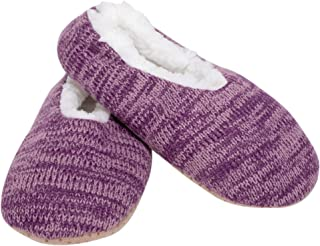 Simple Knit - Pantuflas suaves con forro de felpa para mujer