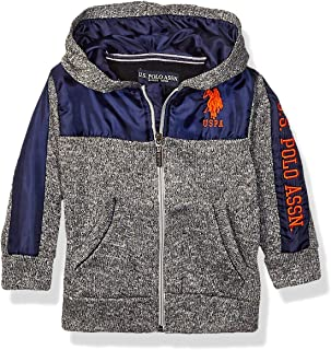 U.S. POLO ASSN. boys Zip Front Sweater Fleece Hoodie Zip Front Sweater Fleece Hoodie