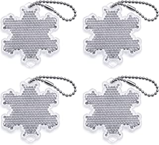 BSK Safety Reflectors - Snowflake - White - 4 - Pack