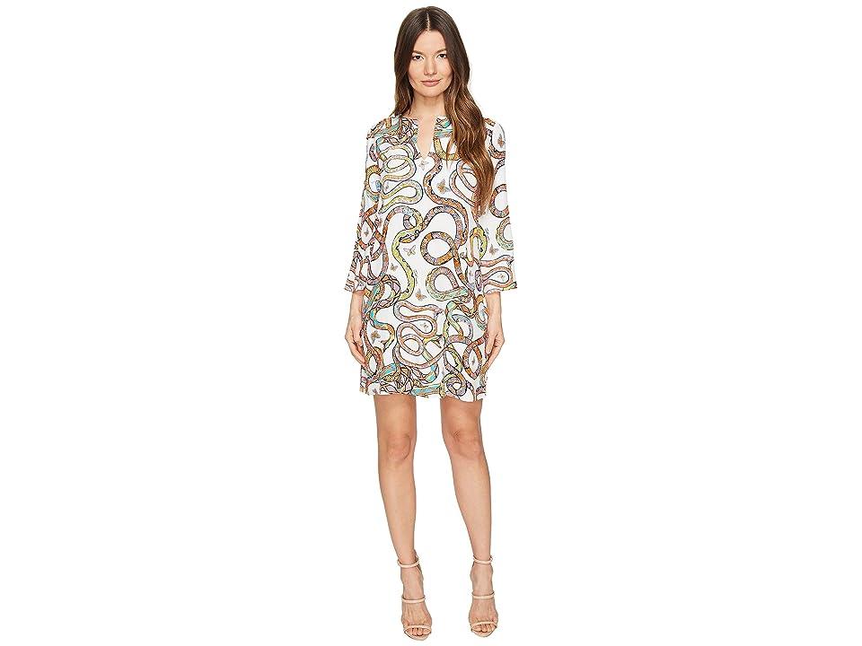 Just Cavalli Obsession Wonders Long Sleeve Shift Dress (White Variant) Women