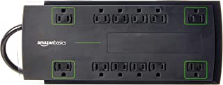 AmazonBasics 12-Outlet Power Strip Surge Protector | 4,320 Joule, 10-Foot Cord