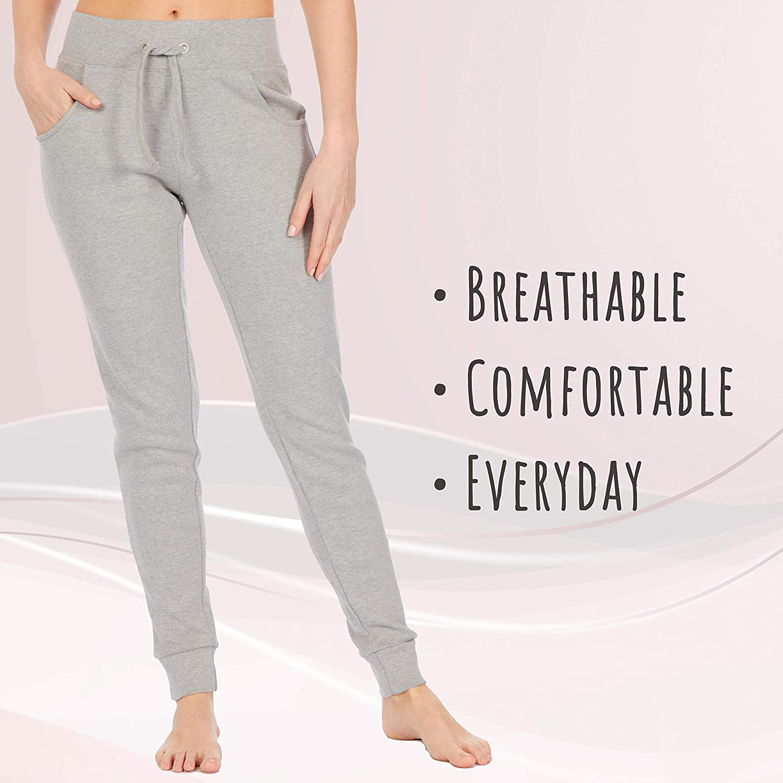 Metzuyan Ladies Womens Cotton Jog Pants Sweatpant Skinny Casual Joggers Bottoms