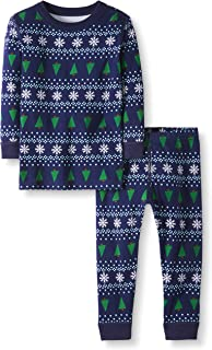Moon and Back by Hanna Andersson Toddler Kids 2 Piece Long Sleeve Pajama Set, Winter Fair Isle, 2T